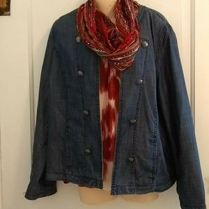Cold Water Creek Button Soft Jean like Jacket